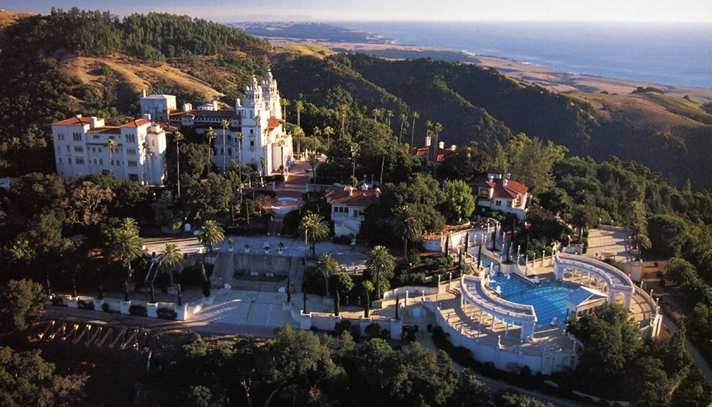Arial shot of Hearst Castle