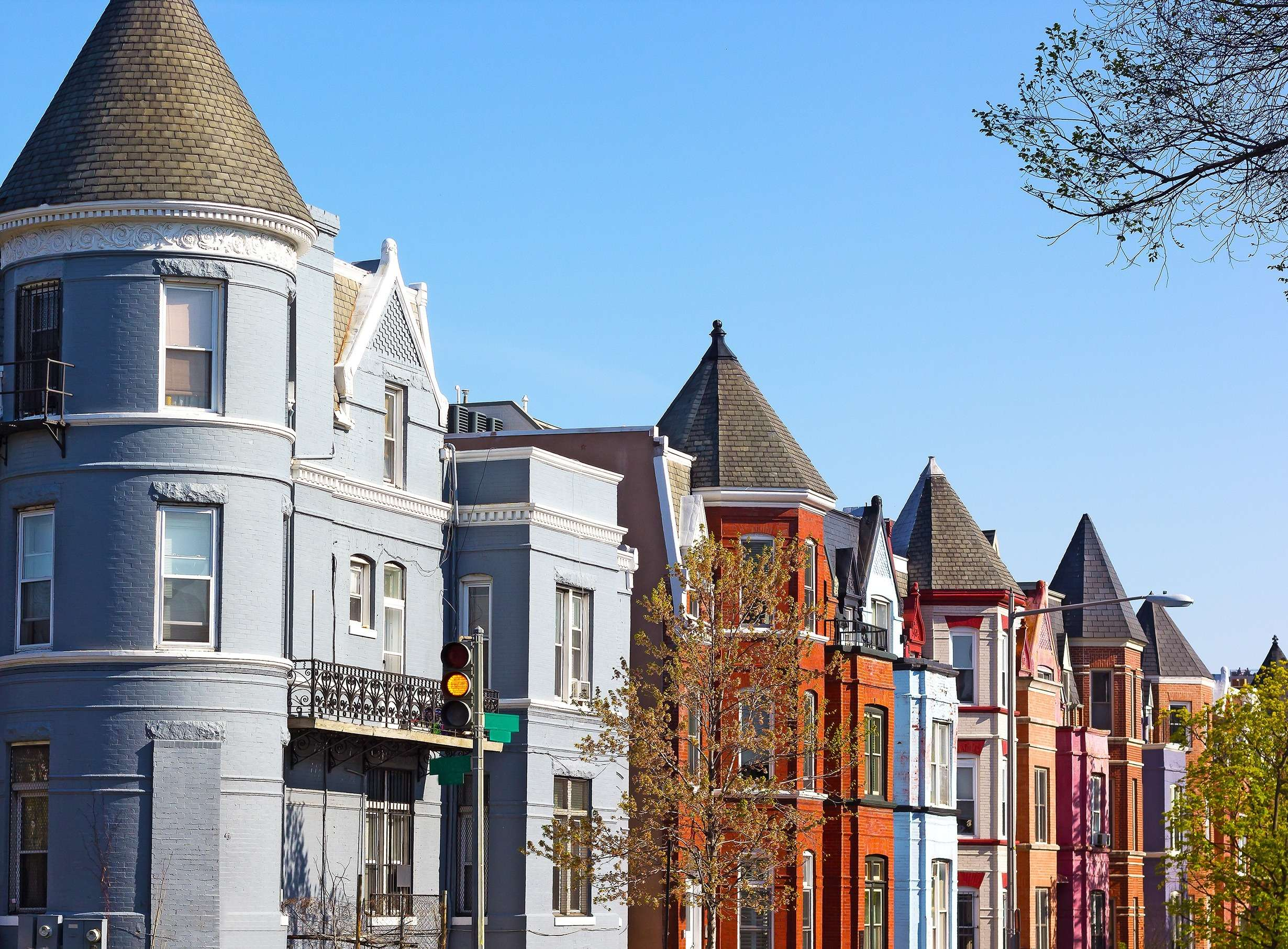 Row of houses in Washington DC