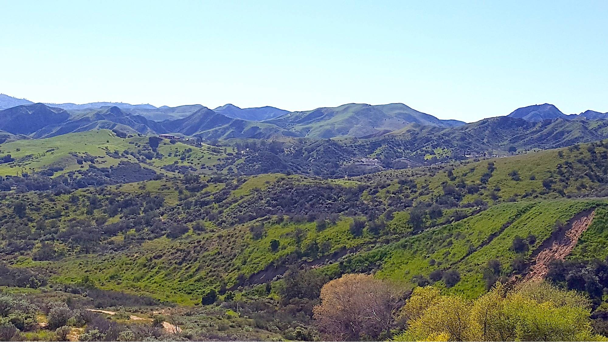 Castaic CA hills in the spring