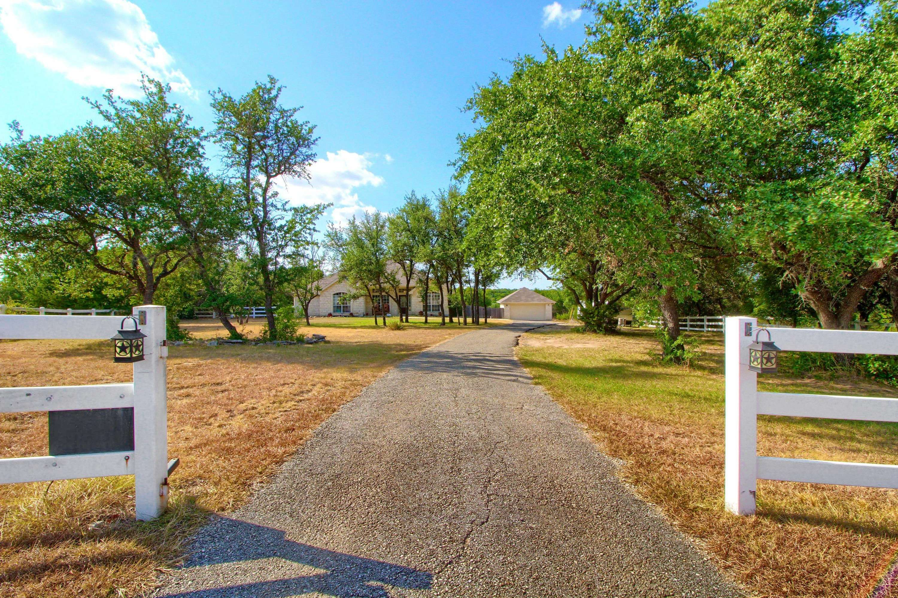 Liberty Hill acreage home for sale