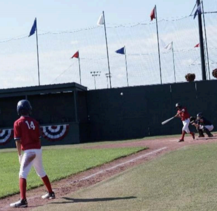 My son hitting a home run in Cooperstown!