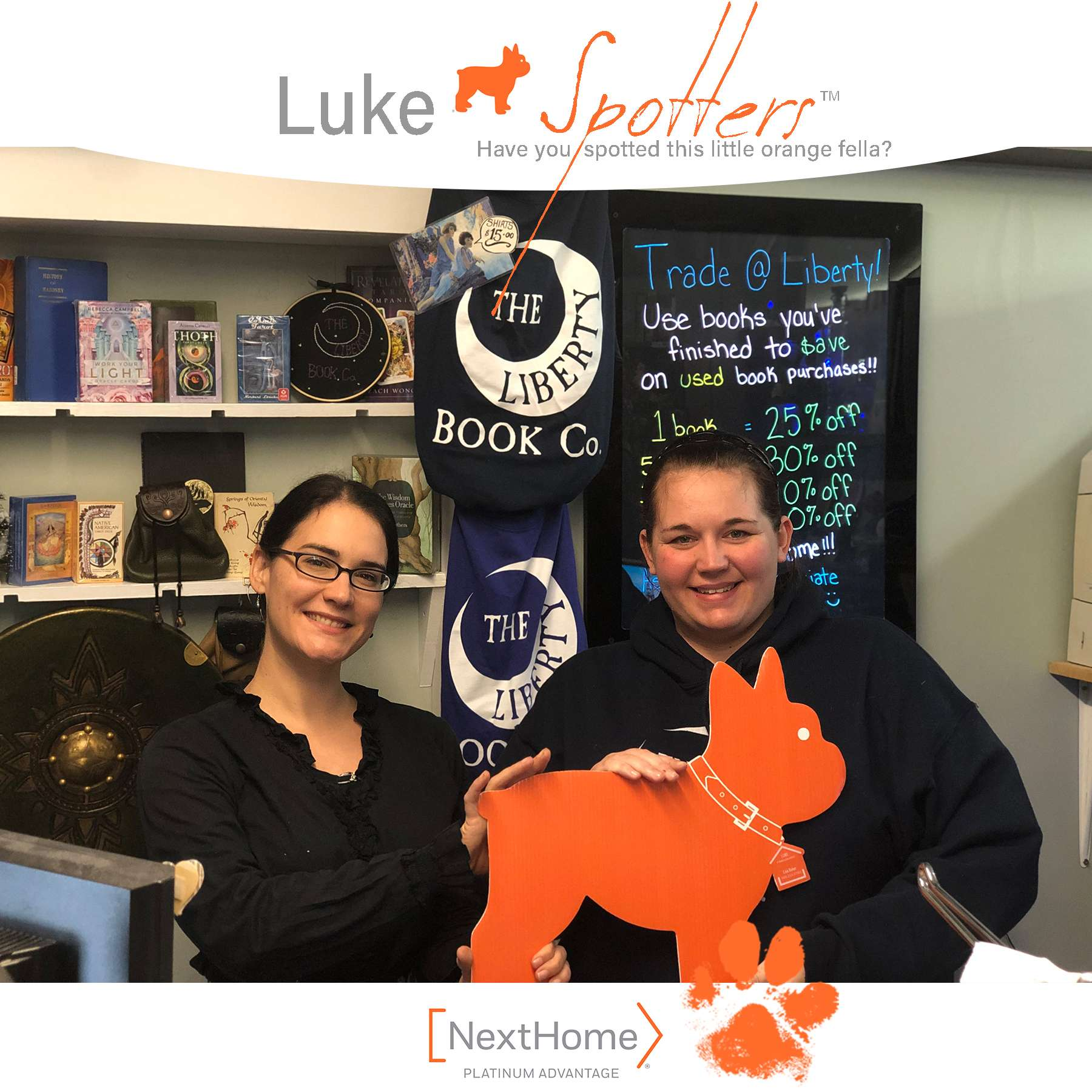 Luke with Cara and Rain of The Liberty Book Company in Rock Hill.