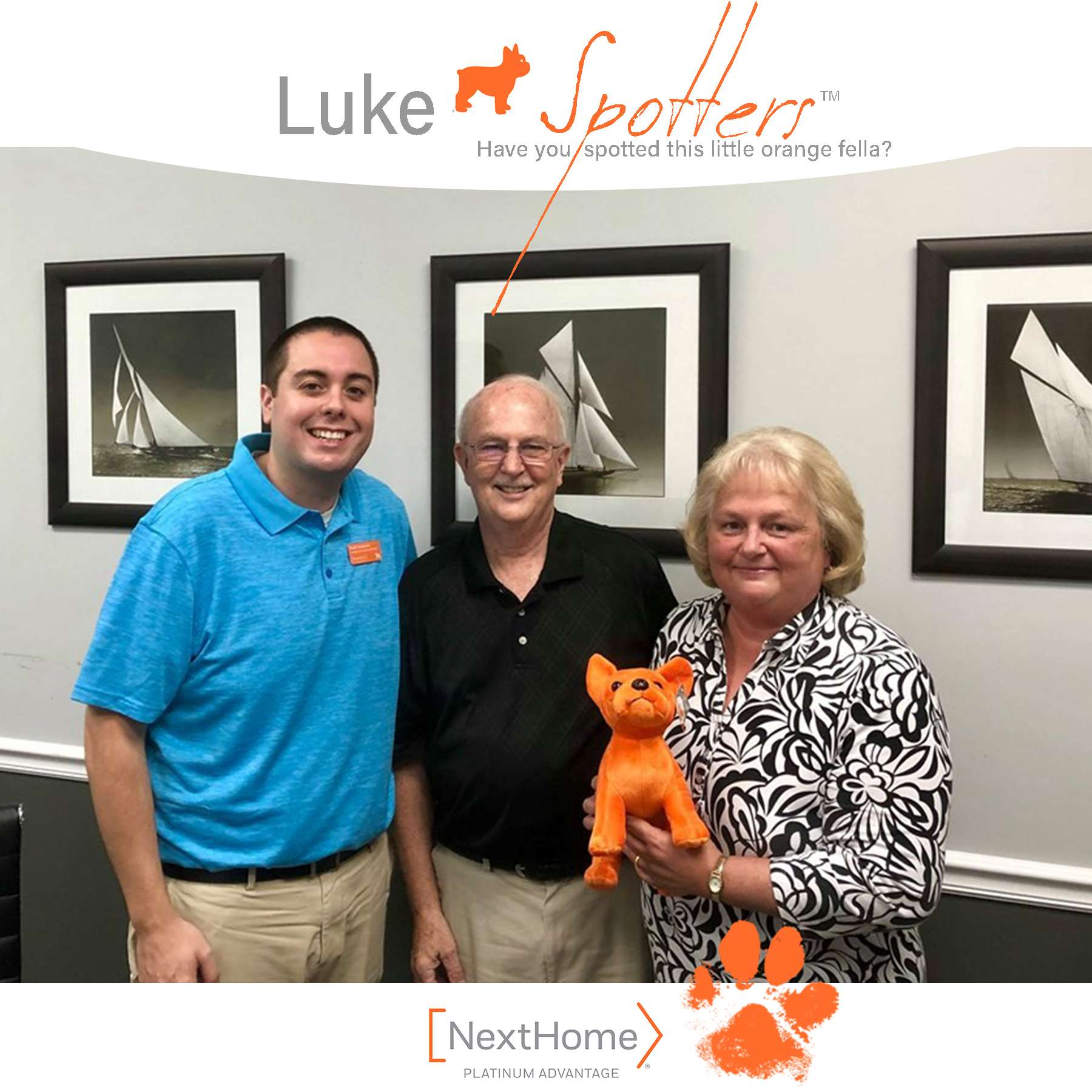 Luke & Keith Rushman, REALTOR® celebrate with Tom and Carol MacDonald.