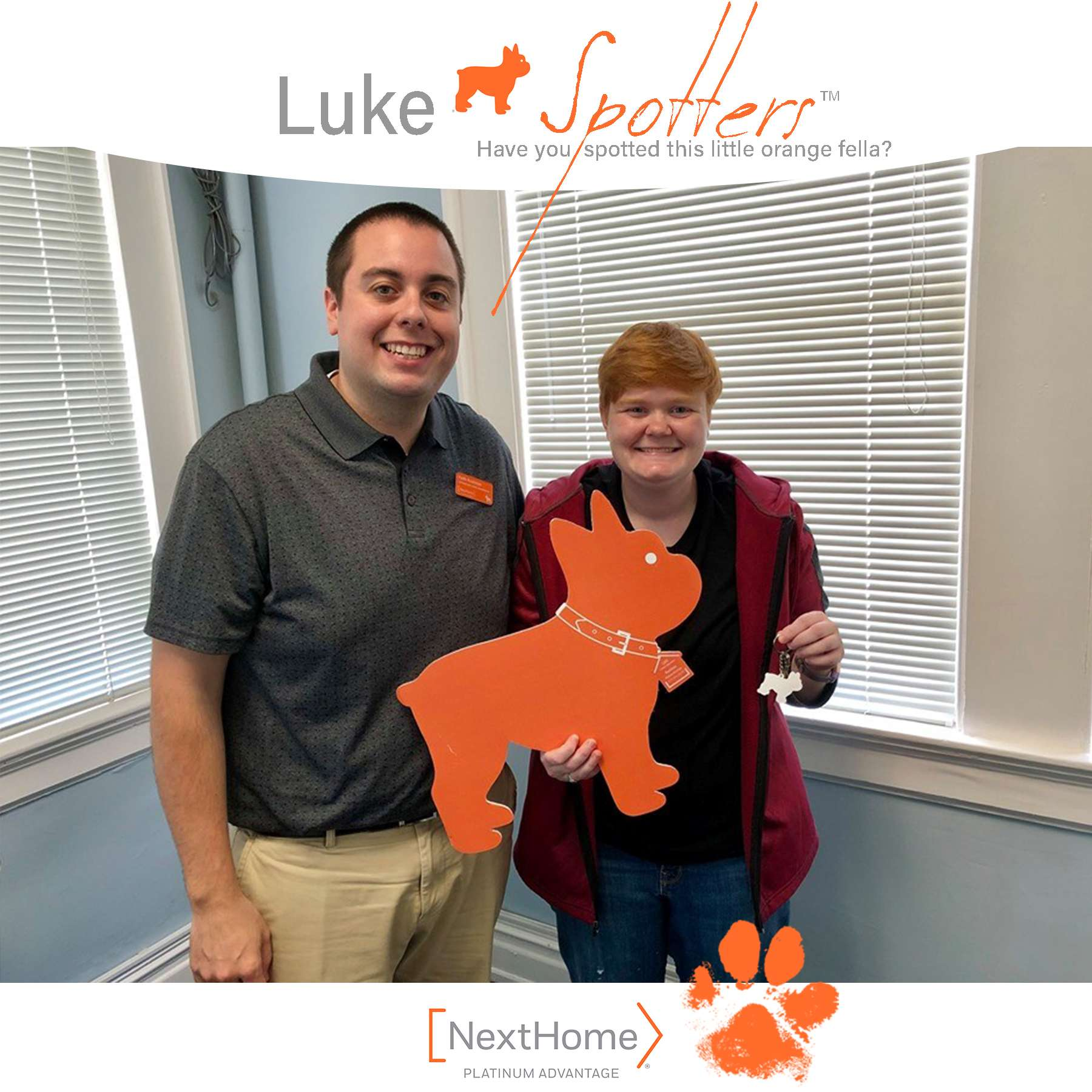 Luke & Keith Rushman, REALTOR® celebrate the closing with Jessica Davis.