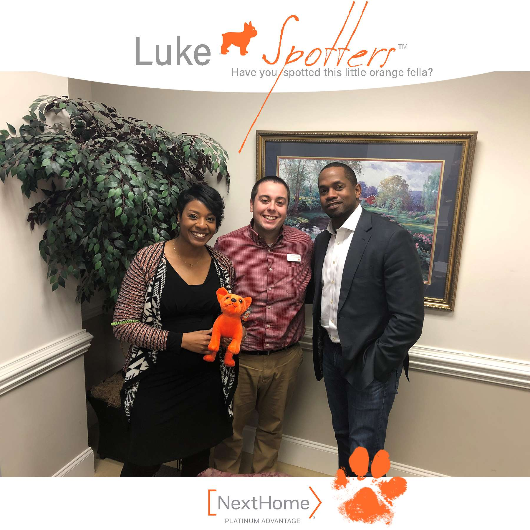 REALTOR® Keith Rushman, with Luke and Benjamin and Amanda Jackson.