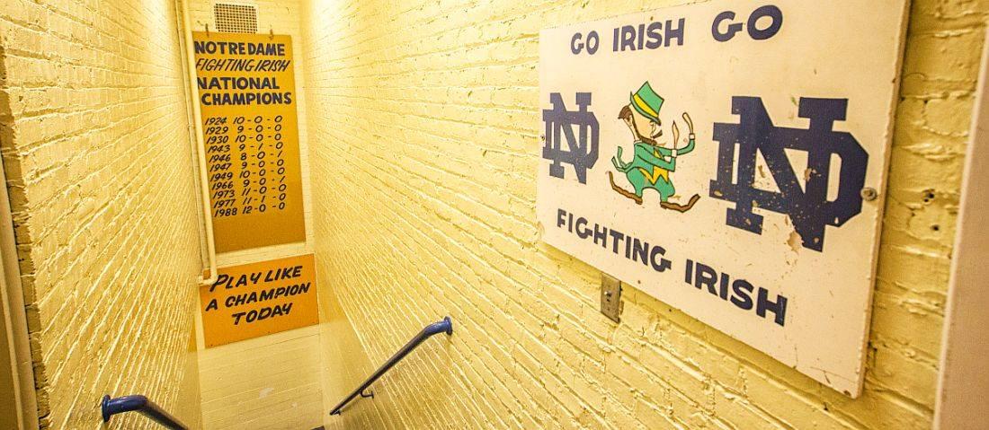 Notre Dame Slap the Sign
